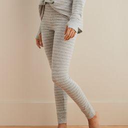 Aerie Plush Pajama Legging, Medium Heather | American Eagle Outfitters (US & CA)