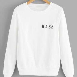 Letter Print Sweatshirt   SHEIN