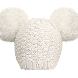 Jasmine Womens Winter Thick Cable Knit Fleece Lined Beanie Hat with Faux Fur Pompom Ears   Amazon (US)