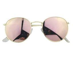 Mirrored Metal Frame Sunglasses   SHEIN