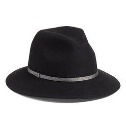 Treasure & Bond Metallic Band Wool Felt Panama Hat   Nordstrom