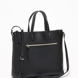 Zip-Top Faux-Leather Crossbody Bag for Women | Old Navy US
