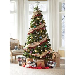 Green Fir Artificial Christmas Tree with Clear Lights   Wayfair North America