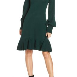 Eliza J Balloon Sleeve Sweater Dress | Nordstrom