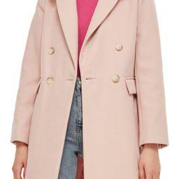 Topshop Naomi Faux Fur Collar Coat | Nordstrom