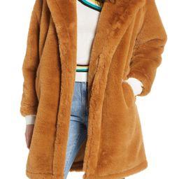 Woven Heart Faux Fur Teddy Coat | Nordstrom