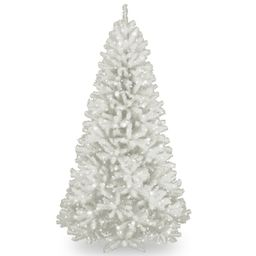 Spruce 7' White Artificial Christmas Tree with 550 Clear Lights and Stand | Wayfair North America