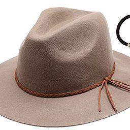 D&Y Women's 100% Wool Felt Cloche Short Brim Floppy Fedora Hat with Scrunchy | Amazon (US)