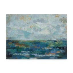 Silvia Vassileva 'Seascape Sketches Ii' Canvas Art - Black | Overstock