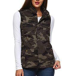 Fashionazzle Women's Lightweight Sleeveless Military Anorak Utility Jacket Vest | Amazon (US)