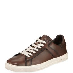 Men's Sportivo Burnished Leather Sneakers   Neiman Marcus