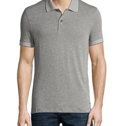 Pique Polo Shirt, Medium Gray   Neiman Marcus