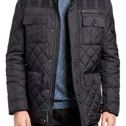 Cole Haan Mixed Media Quilted Jacket   Nordstrom