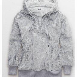 Aerie Cozy Quarter Zip Sweatshirt, Medium Heather   American Eagle Outfitters (US & CA)