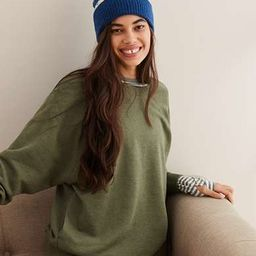 Aerie Cozy City Sweatshirt, Olive Fun   American Eagle Outfitters (US & CA)