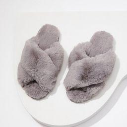 Faux Fur Slide Slippers | LOFT | LOFT