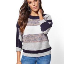 Sequin Stripe Tunic Sweater | New York & Company