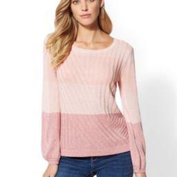 Mixed-Stitch Marled Sweater | New York & Company