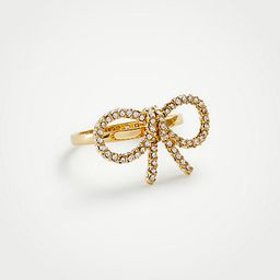 Pave Bow Ring | Ann Taylor (US)