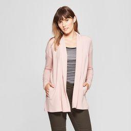 Women's Open Knit Cardigan - A New Day™ Light Pink M | Target