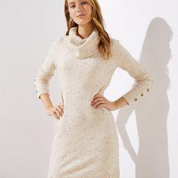 Button Cuff Cowl Neck Sweater Dress   LOFT   LOFT