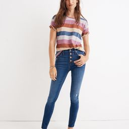 """10"""" High-Rise Skinny Jeans in Hanna Wash   Madewell"""