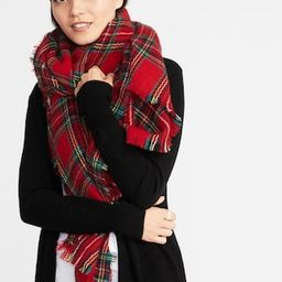 Flannel Blanket Scarf for Women   Old Navy US