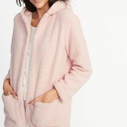 Hooded Open-Front Sherpa Sweater for Women   Old Navy US