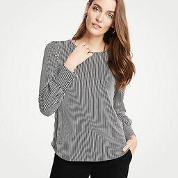 Stripe Cuffed Top | Ann Taylor (US)