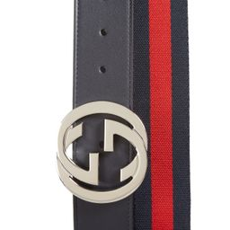 Logo Buckle Interlock Belt | Nordstrom