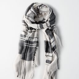 AEO Lightweight Two Color Plaid Scarf, Toasted Coconut   American Eagle Outfitters (US & CA)