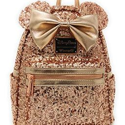 Disney Parks Loungefly Rose Gold Minnie Mouse Sequin Backpack - Updated Style   Amazon (US)