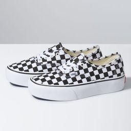 Checkerboard Authentic Platform 2.0   Shop At Vans   Vans (US)