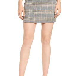 1.STATE Menswear Plaid Miniskirt | Nordstrom