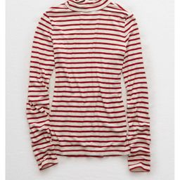Aerie Real Soft® Ribbed Turtleneck , Rouge   American Eagle Outfitters (US & CA)