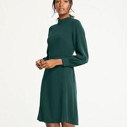 Mock Neck Flare Dress | Ann Taylor (US)