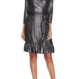 CeCe Foil Knit Ruffle Dress | Nordstrom