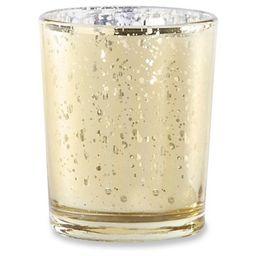12ct Mercury Glass Tealight Holder Gold - Kate Aspen® | Target