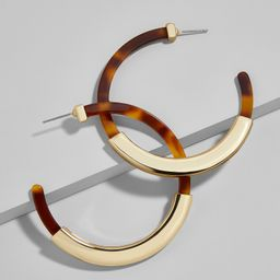 Tassiana Resin Hoop Earrings | BaubleBar (US)