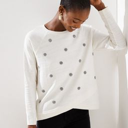 Texture Dot Crossover Sweatshirt | LOFT | LOFT