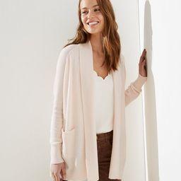 Textured Shawl Pocket Open Cardigan | LOFT | LOFT