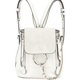 Faye Mini Leather/Suede Backpack | Neiman Marcus