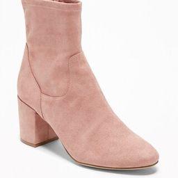 Faux-Suede Slim-Calf Block-Heel Boots | Old Navy US