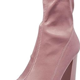Cambridge Select Women's Pointed Toe Soft Stretch Sock Style Chunky Block Heel Ankle Bootie | Amazon (US)