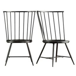 HomeSullivan Walker Black Wood and Metal High Back Dining Chair (Set of 2)-40550C-BK3A2PC - The Home | The Home Depot