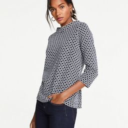 Chain Link Mock Neck Top | Ann Taylor (US)