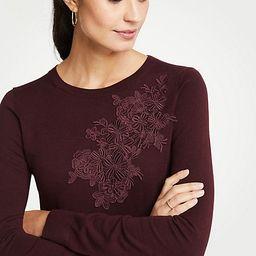 Floral Applique Sweater | Ann Taylor (US)