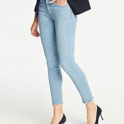 Frayed Hem Skinny Crop Jeans | Ann Taylor (US)