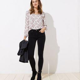 Modern Soft Skinny Jeans in Black | LOFT | LOFT