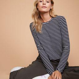 Lou & Grey Striped Softened Jersey Layering Tee | LOFT | LOFT